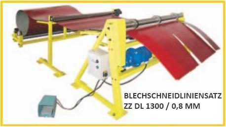 Blechschneidliniensatz ZZ DL 1300 / 0,8 mm